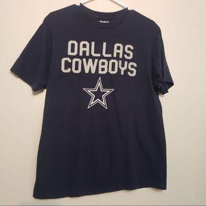 Reebok Dallas Cowboy Navy Blue Crewneck T-Shirt